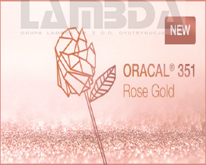 Folia Oracal 351-931 rose gold połysk 50 mikronów (mb)